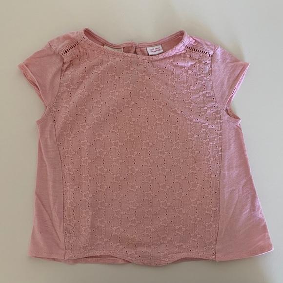 dc95dd45 Zara Shirts & Tops | Baby Girls Short Sleeve Tshirt | Poshmark